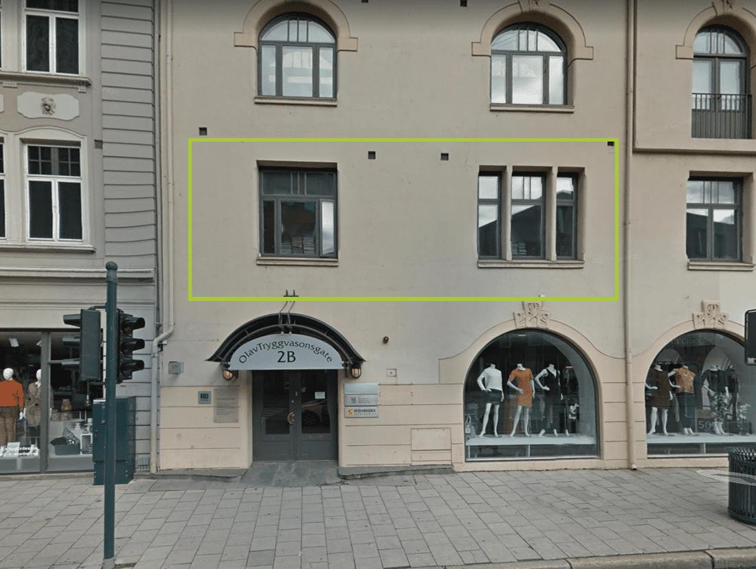 Arkitekt Sandmarks lokaler i Olav Tryggvasons gate 2B i Trondheim