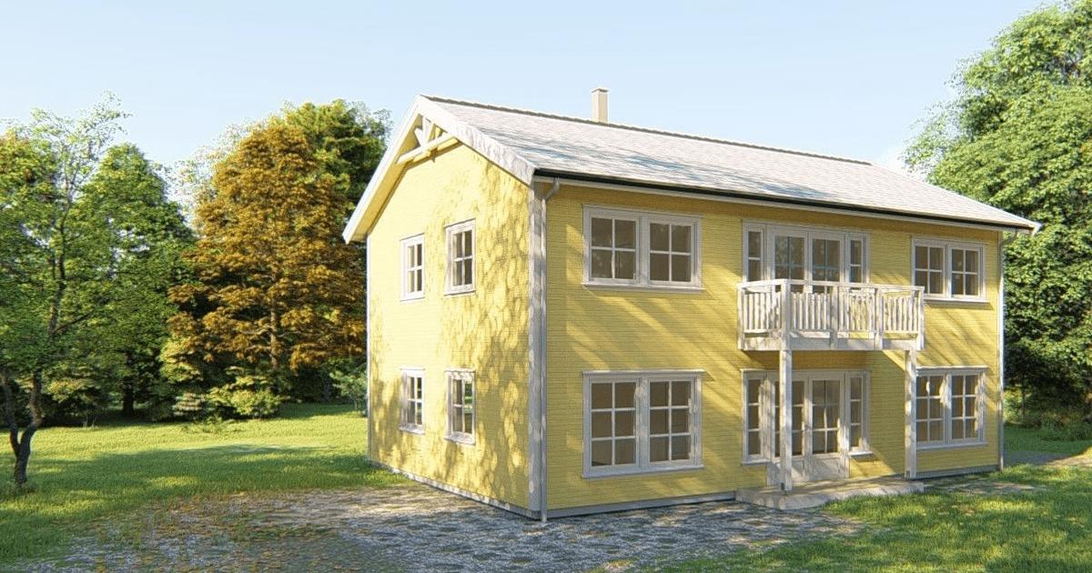 Arkitekt Sandmark gul enebolig