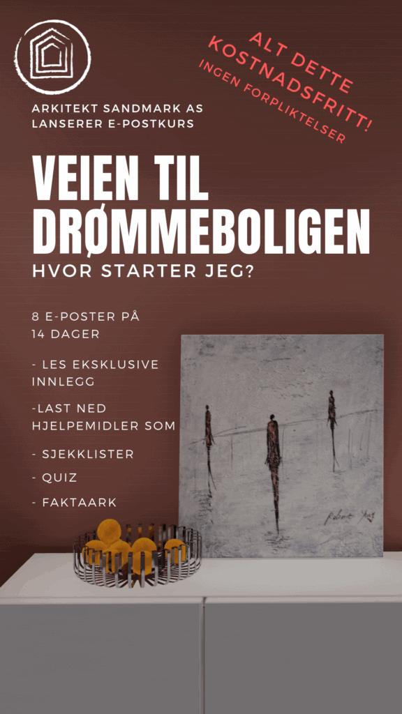 Arkitekt sandmark i Trondheim e-post krus veien til drømmeboligen