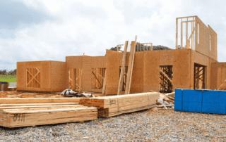 Byggeplass med reisverk