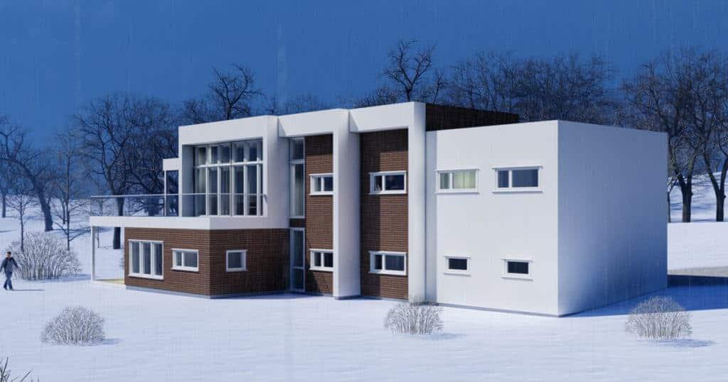 Arkitekt Sandmark fra Trondheim har laget en funkis bolig