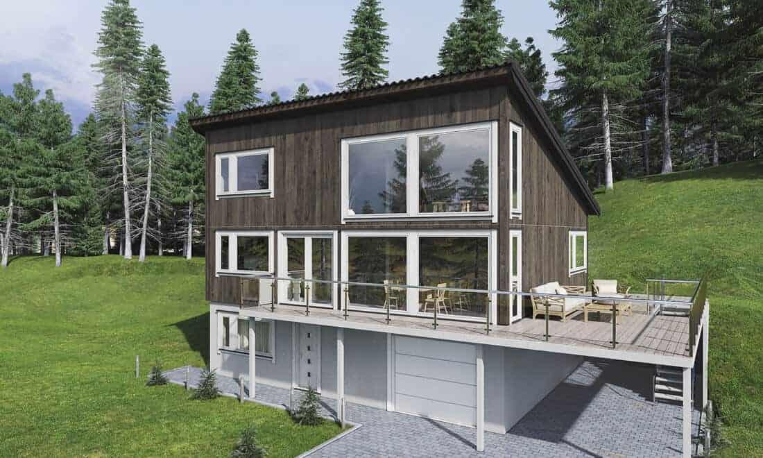 Hva er dette? Terrasse, balkong, veranda eller altan?