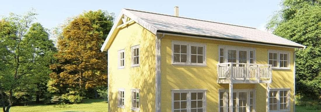 gul enebolig med hage