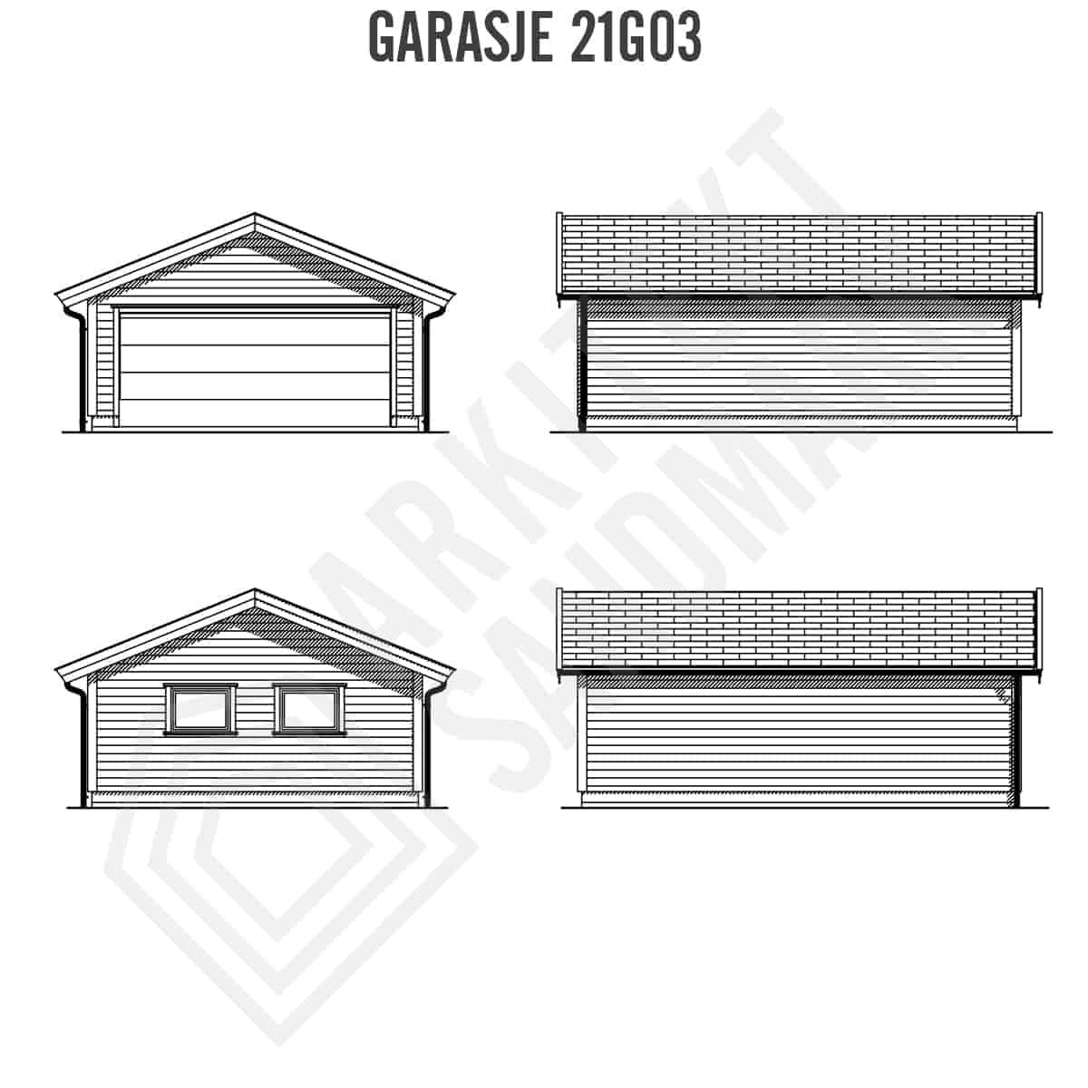 garasje tegninger fasader